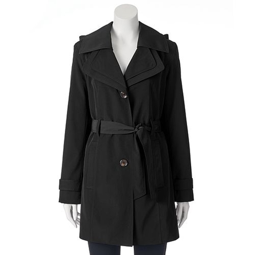 Hooded Trench Raincoat by Towne By London Fog in Pretty Little Liars - Season 6 Episode 10