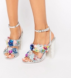 Embellished Heeled Sandals by Asos Salon Heroism in Scream Queens