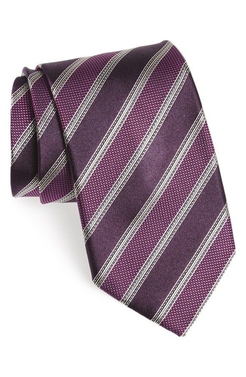 Stripe Silk Tie by Canali in The Good Wife
