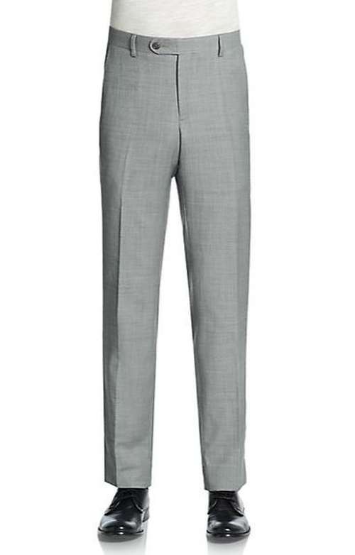 Sharkskin Wool Trousers by Saks Fifth Avenue in By the Sea