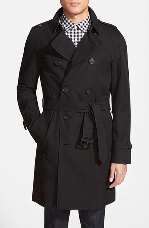 'Wiltshire' Trim Fit Double Breasted Trench Coat by Burberry London in Elementary - Season 4 Episode 1
