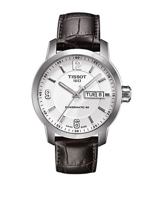 Automatic Leather Strap Watch by Tissot in The Flash - Season 2 Episode 8