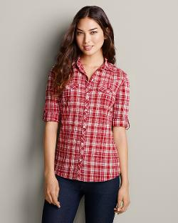 Long-Sleeve Camp Shirt by Eddie Bauer in Ride Along
