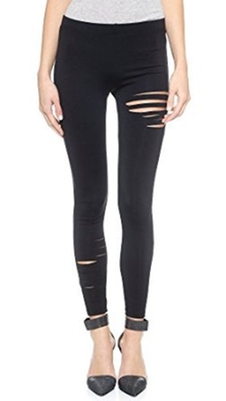 Women's Half Ripped Leggings by David Lerner in The Blacklist
