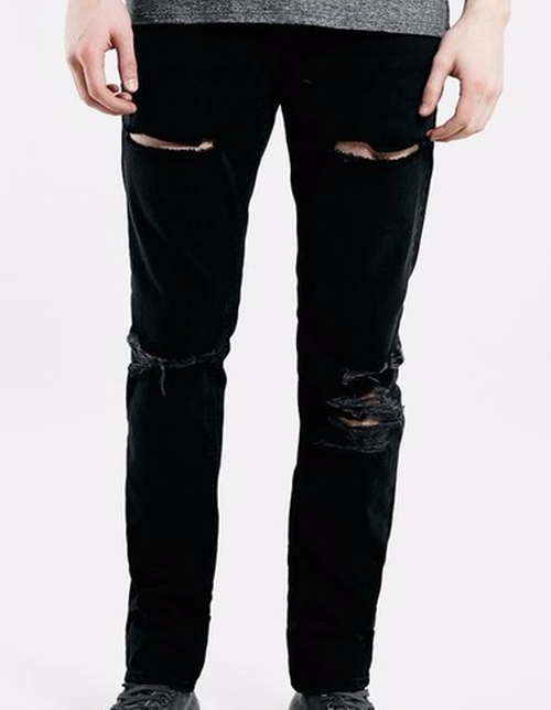 Ripped Skinny Fit Jeans by Topman in Guilt