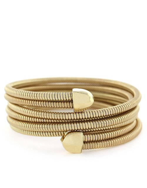 Gold-Tone Coil Wrap Bracelet by BCBGeneration in The DUFF