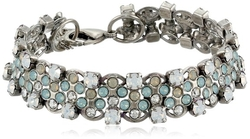 Aegean Sea Rhinestone Chain Bracelet by Sorrelli in Legend