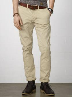 Super-Slim Officer's Chino by Ralph Lauren in Sabotage