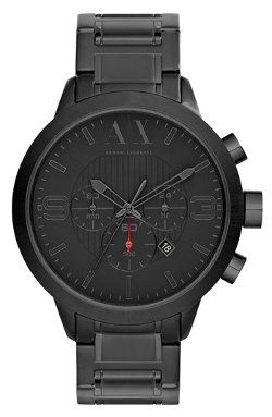 Round Chronograph Bracelet Watch by AX Armani Exchange in Vice