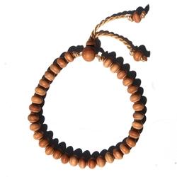 Adjustable Sandalwood Bead Bracelet by Exotic Beads in Sisters