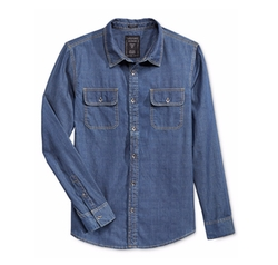 Denim Long-Sleeve Shirt by Guess in Hell or High Water
