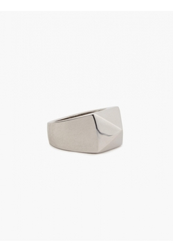 Silver Pyramid Stud Ring by Valentino in Legend
