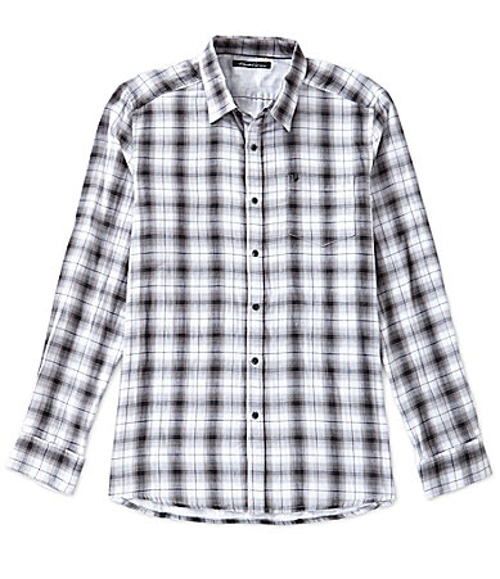 Plaid Woven Shirt by Kenneth Cole New York in McFarland, USA