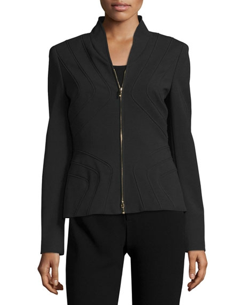 Stand-Collar Zip-Front Jacket by Escada in Power - Season 3 Preview