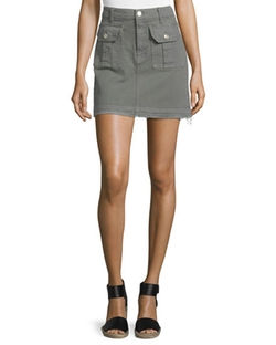 Utility Pocket Mini Skirt by 7 For All Mankind in Fuller House
