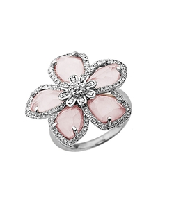 Rose Quartz And Diamond-Accented Ring by Lord & Taylor in Suits
