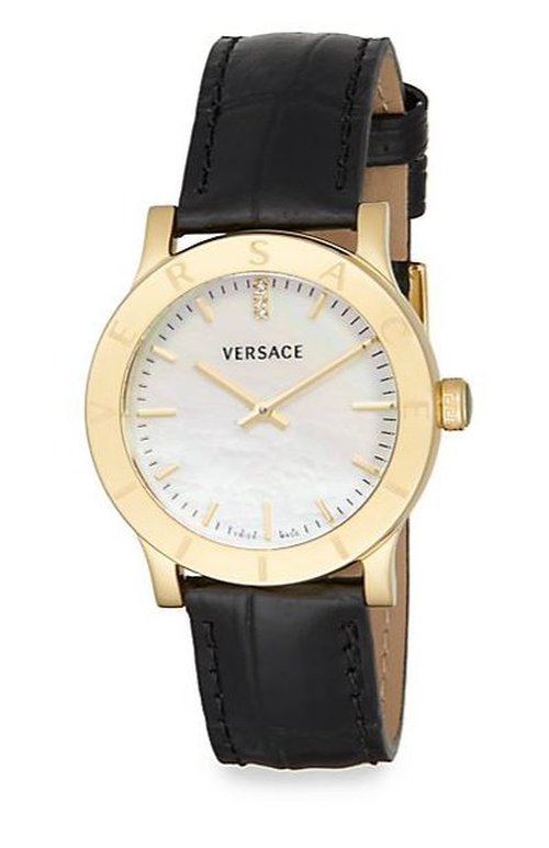 Steel & Leather Watch by Versace in How To Get Away With Murder - Season 2 Episode 5