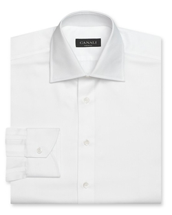 Solid Dress Shirt by Canali in Bridge of Spies