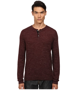 Wool Linen Jaspe Henley by Vince in New Girl