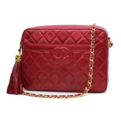 Vintage Lambskin Quilted Classic Chain Bag by Chanel in Scream Queens
