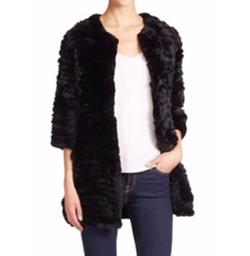 Knit Rabbit Fur Coat by Adrienne Landau in Wonder Woman