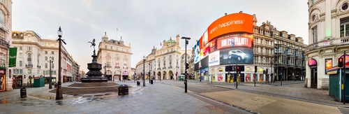 Piccadilly Circus London, England in Legend