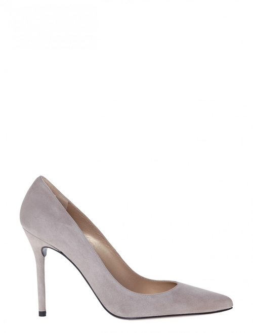 Suede Point Toe Pumps by Stuart Weitzman in Suits