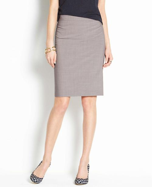 Tropical Wool Pencil Skirt by Ann Taylor in Fifty Shades of Grey