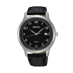 Men's Leather Watch by Seiko in Fifty Shades of Black