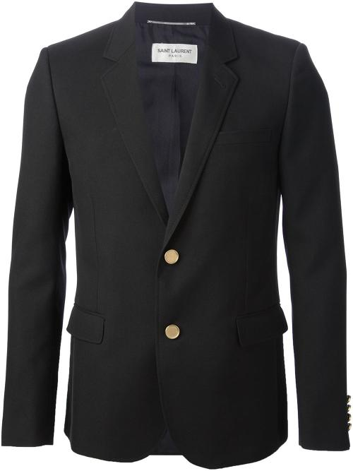 Fitted Suit Jacket by Saint Laurent in Gone Girl