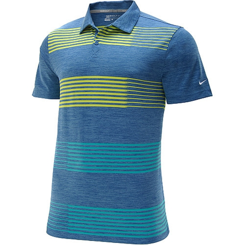 Sport Pile Stripe Golf Polo Shirt by Nike in Ballers - Season 1 Episode 5