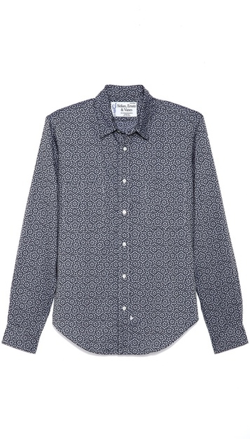 Geometric Print Shirt by Sidian, Ersatz & Vanes in The Hundred-Foot Journey
