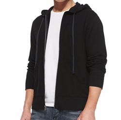 Cotton-Knit Zip Hoodie by James Perse in Billions