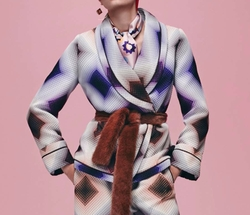 Pre-Fall 2016 Collection Printed Wrap Jacket by Fendi in Empire
