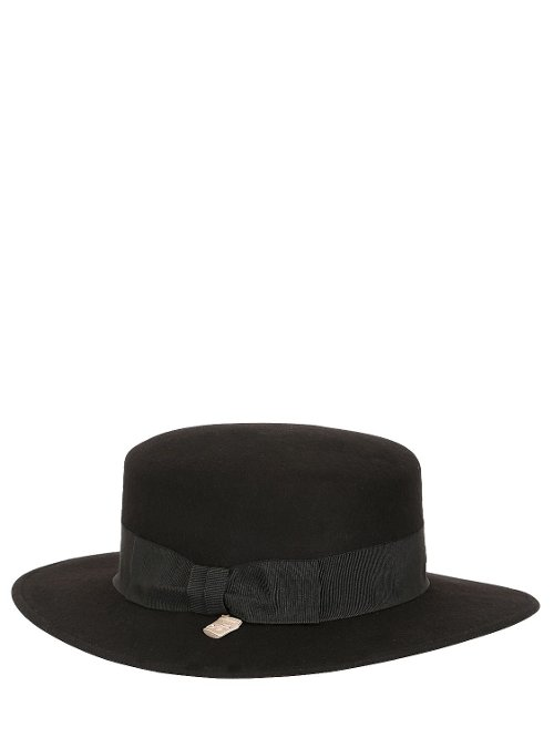 Boater Wool Felt Hat by Alex in The Counselor