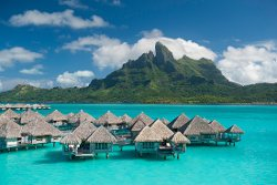 Bora Bora, French Polynesia by The St. Regis Bora Bora Resort (Depicted as Eden Resort) in Couple's Retreat