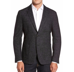 Donegal Classic Fit Suede Trim Jersey Sport Coat by Flynt in Jack Ryan