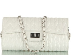 Quilted Square Chain Shouder Bag by Freee in Vacation