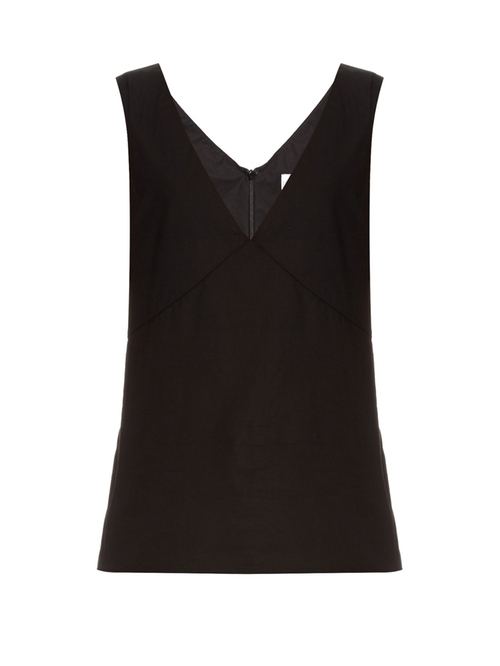 V Neck Cotton Blend Day Top by Raey  in The Mick - Season 1 Preview