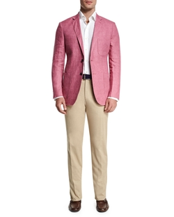 Two-Button Linen Soft Coat by Peter Millar in Ballers