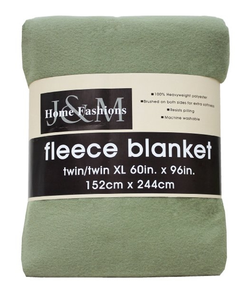 Fleece Blanket by J&M Home Fashions in Adult Beginners