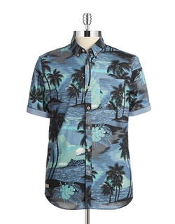 Patterned Cotton Sportshirt by 7 Diamonds in Forgetting Sarah Marshall