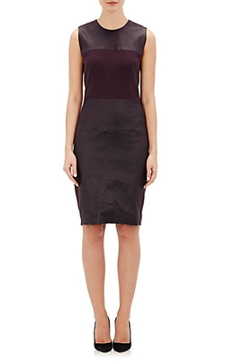 Leather-Paneled Sheath Dress by Narciso Rodriguez in Supergirl