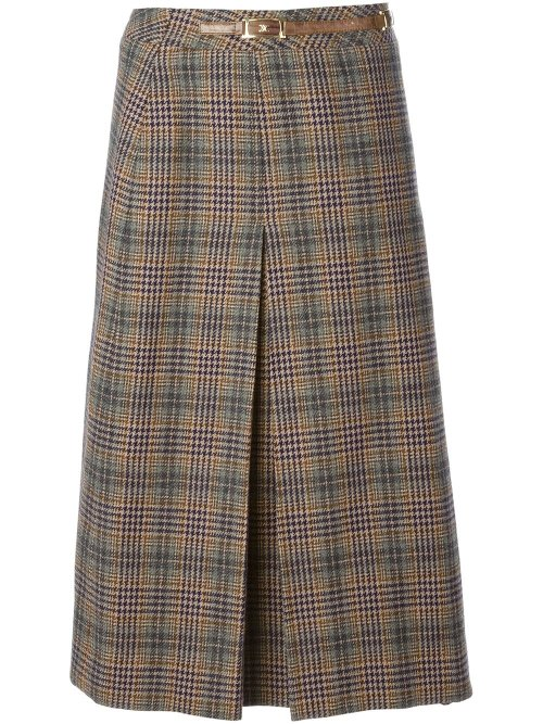 Plaid Skirt by Céline Vintage in While We're Young