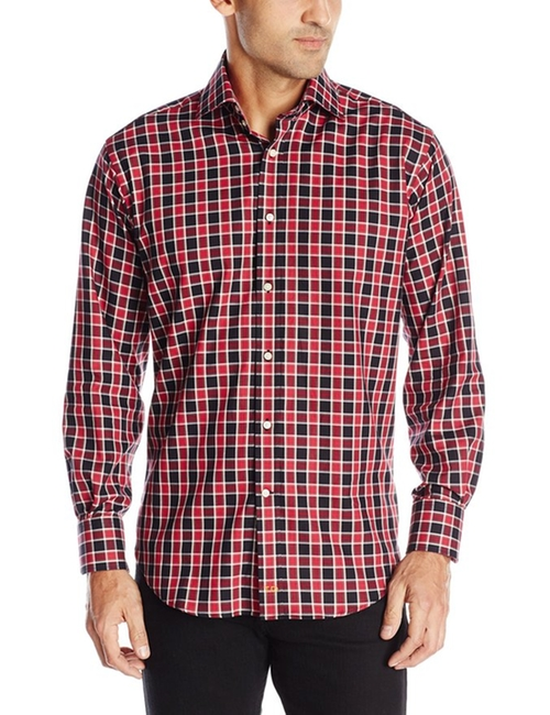 Men's Checked Button-Front Shirt by Thomas Dean in Chelsea - Season 1 Episode 2