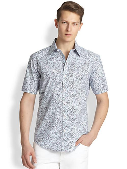 Julianelli Printed Button-Down Shirt by Zachary Prell in Million Dollar Arm