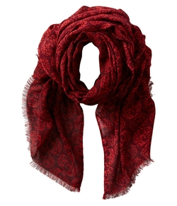 Skull Print Fabric Scarf by San Diego Hat Company in Whiskey Tango Foxtrot