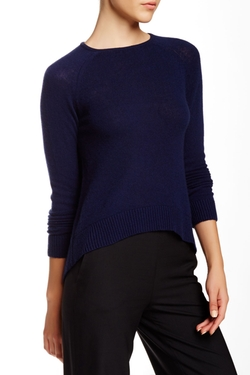 Black Label Hi-Lo Cashmere Sweater by Catherine Malandrino in Man With A Plan