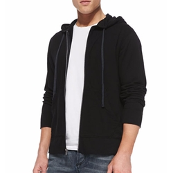 Cotton-Knit Zip Hoodie by James Perse in Animal Kingdom