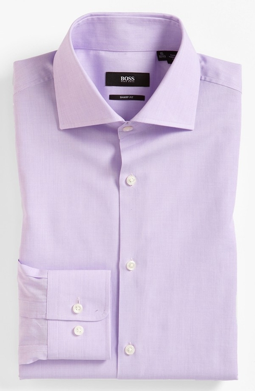'Miles' Sharp Fit End-on-End Dress Shirt by Boss in Our Brand Is Crisis